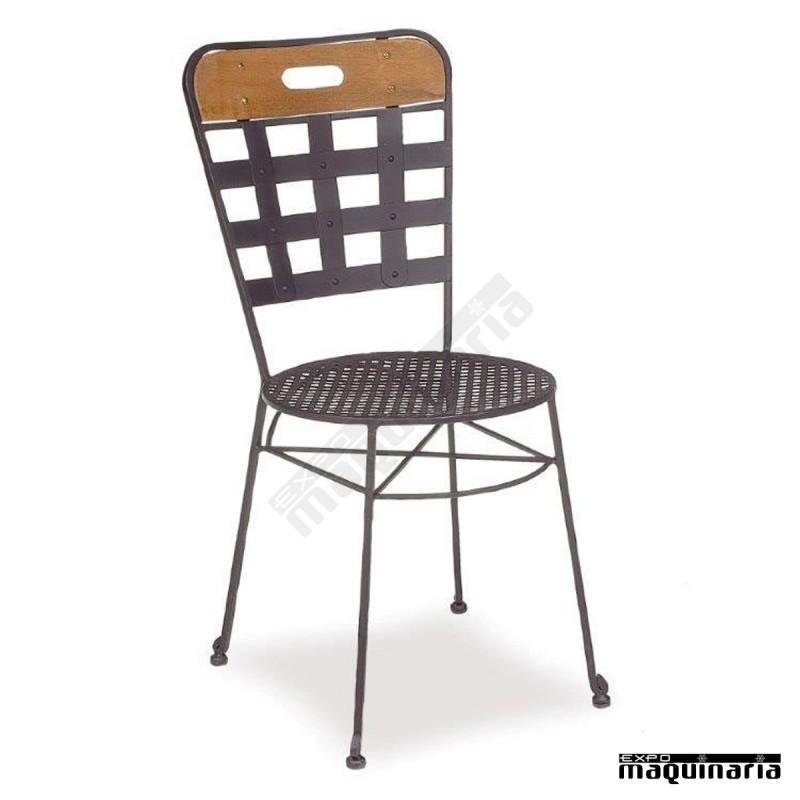 Silla de forja asiento rejilla im171r estilo cl sico y - Mobiliario de forja ...