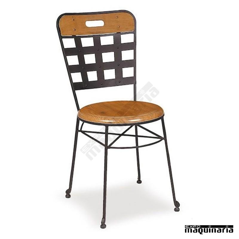 Silla forja cafeteria asiento solo im171s armaz n de - Sillas de forja para comedor ...