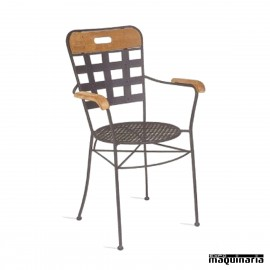 Sillón de forja asiento rejilla IM371R