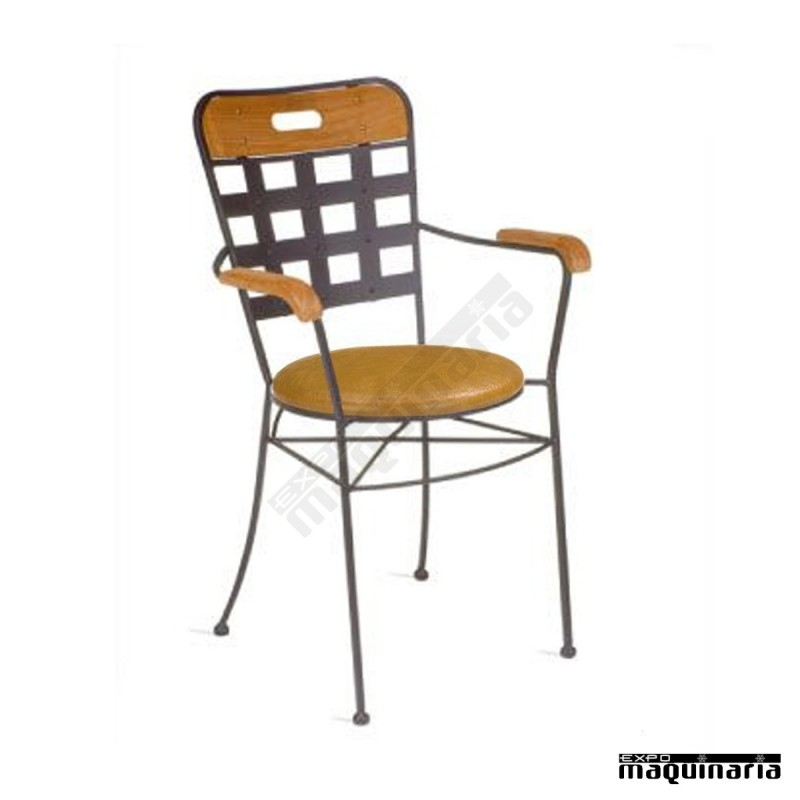 Sill n hosteler a de forja asiento skay im371 brazos de - Mobiliario de forja ...