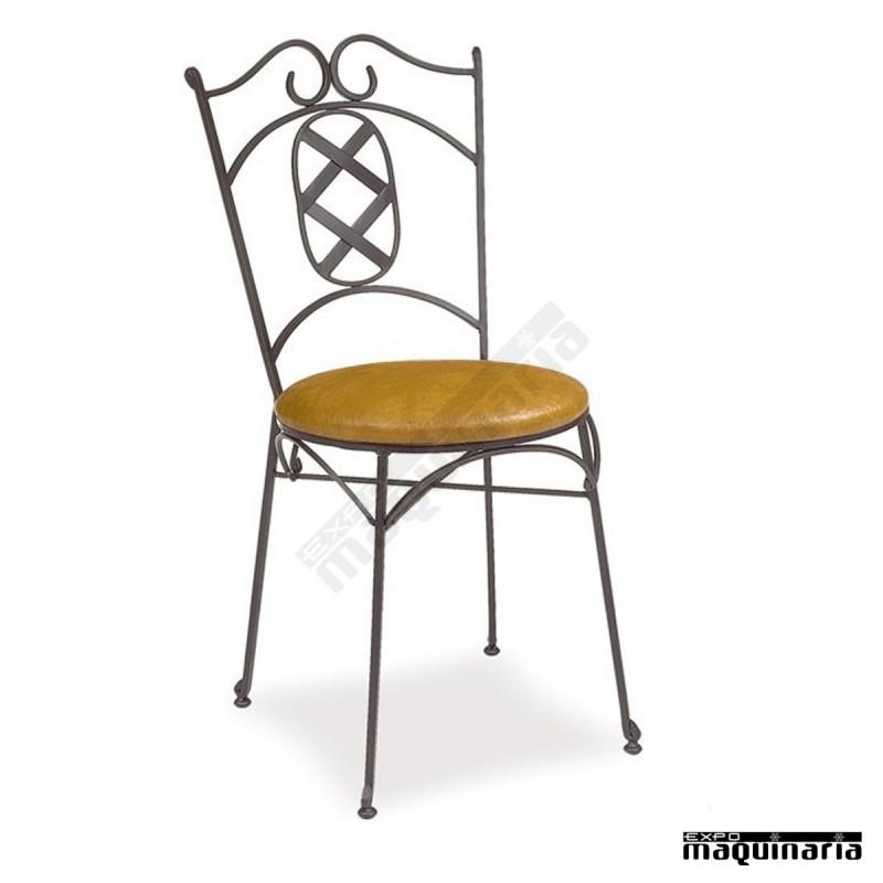 Silla de forja cafeteria asiento skay im172 armaz n de - Mobiliario de forja ...