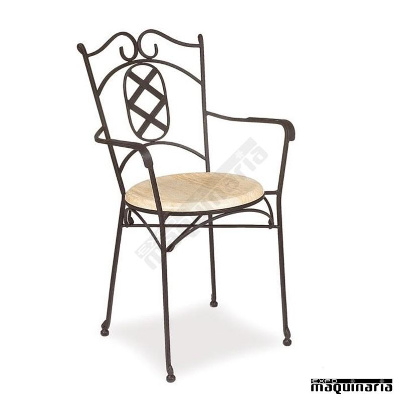 Sill n de forja hosteler a asiento solo im372s armaz n - Mobiliario de forja ...