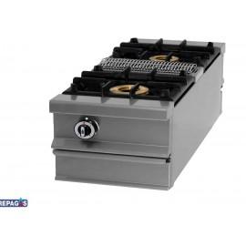Cocina industrial Repagas C-1120/M dos quemadores de gas