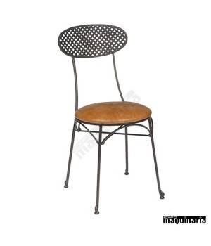 Silla de forja asiento skay y respaldo rejilla IM167