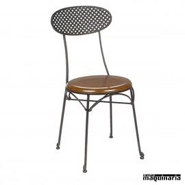 Silla de forja asiento SOLO con respaldo rejilla