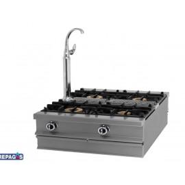 Cocina industrial Repagas C-1140/M cuatro quemadores de gas