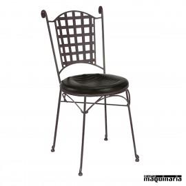 Silla de forja asiento integral IM169I