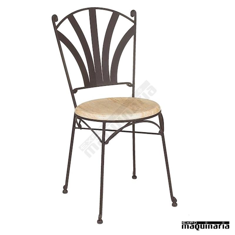 Silla forja asiento solo im170s armaz n hierro respaldo - Sillas de forja para comedor ...