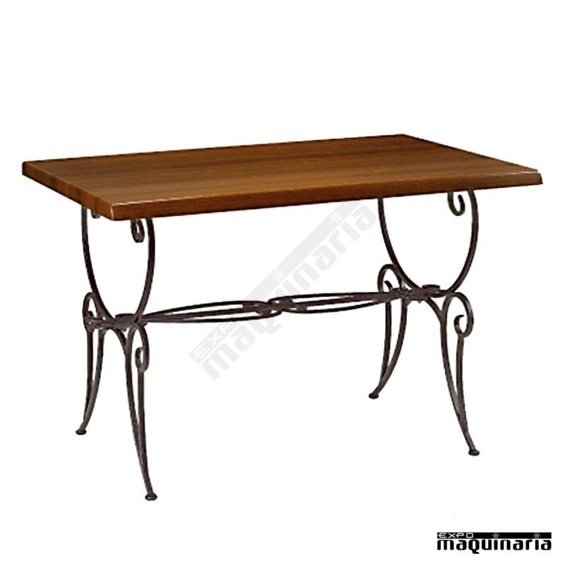 Mesa de forja cafeteria rectangular im5515 con patas de - Mesa de forja ...