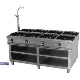 Cocina industrial Repagas C-1180 ocho quemadores de gas