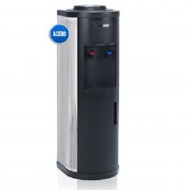 Fuente de agua botellón con frigorífico lateral inox