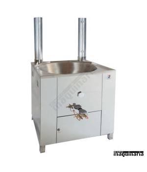 Fogón churros acero inox a gas profesional 10 litros