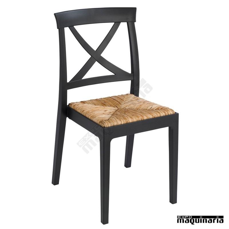 Silla enea bar apilable 1r128 e imitaci n de madera for Sillas de imitacion