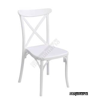 Silla apilable terraza 1R123 color blanco
