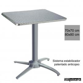 Mesa aluminio cuadrada con estabilizador 3R504ALC