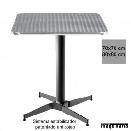 Mesa aluminio con estabilizador 3R506ALC