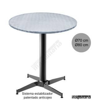 Mesa redonda aluminio con estabilizador 3R506ALR
