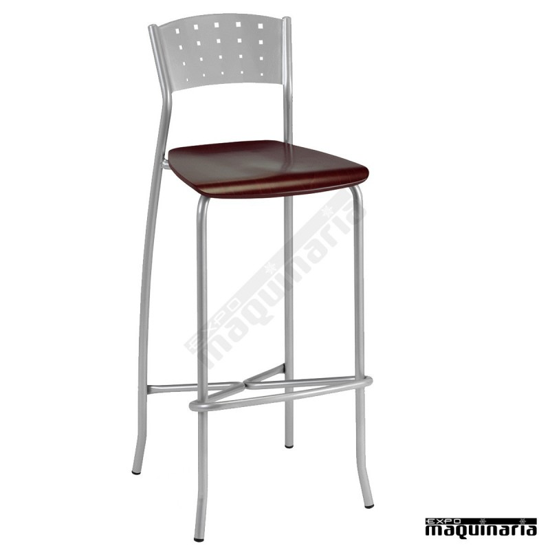 Taburete bar personalizable asiento madera 5r32ma for Taburete bar madera