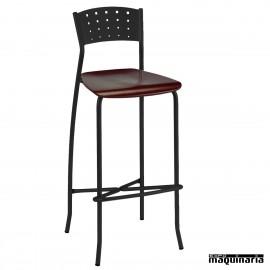 Taburete bar personalizable asiento madera 5R32MA