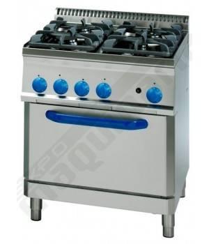 Cocina industrial a gas clpf70gg7 con 4 quemadores y horno for Fogones industriales a gas