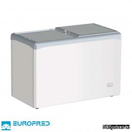 Congelador de tapa ciega corredera EFVIC330CCS de 348 L