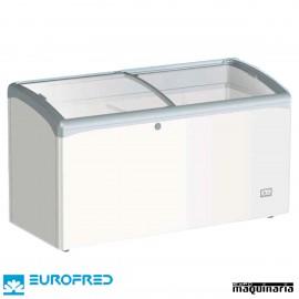 Arcon Congelador 340L. P.cristal corredera 125.2x65.1x85.2