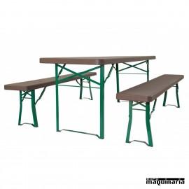 Banco con patas plegable ZOMUNICH BENCH (220 X 30 cm)