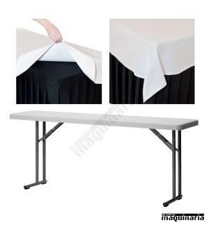 Mantel de sobremasa rectangular ZOCUBREMESAM180