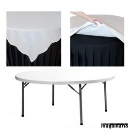 Mantel hosteleria redondo para mesa 160cm ZOMANTELPLANET160