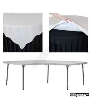 Mantel hosteleria para mesa de esquina ZOMANTELXXLMOON