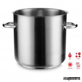 Olla industrial inox de 98 litros sin tapa PU290.150