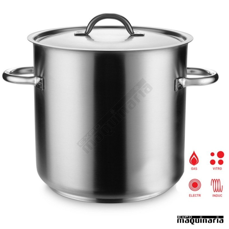 Olla industrial inox 98 litros con tapa pu290050 top line for Ollas para cocina industrial