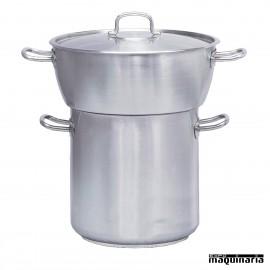 Conjunto Cuscusera bombeada con tapa PU240.060 (72+45 litros)