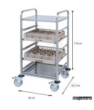 Carro para cestas de vajillas PU80750