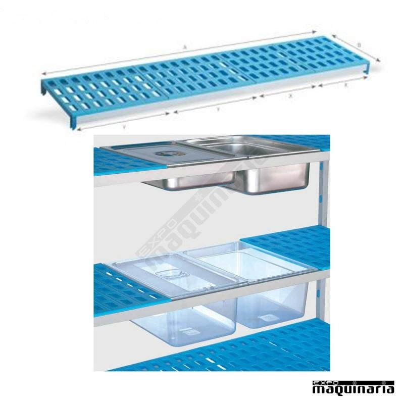 Estanter a de aluminio y polipropileno pu7235 fondo55 5 cm - Muebles de polipropileno ...