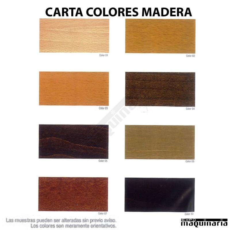 Taburete 4f502 madera de pino color nogal bodega o bar for Colores de madera