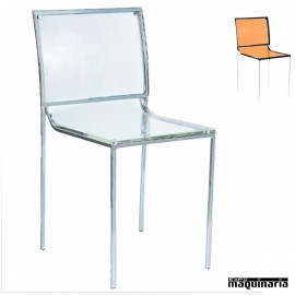 Silla bar transparente FADENVER