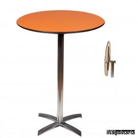 Mesa alta aluminio FAPISA-H ABATIBLE redonda