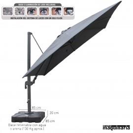 Parasol 3x3 aluminio DELUXE