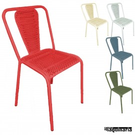 Silla apilable retro 1F502