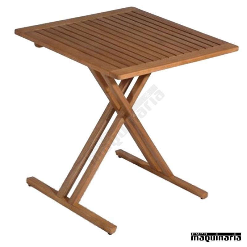 Mesa madera teka fabenidorm madera de teka for Mesas madera hosteleria