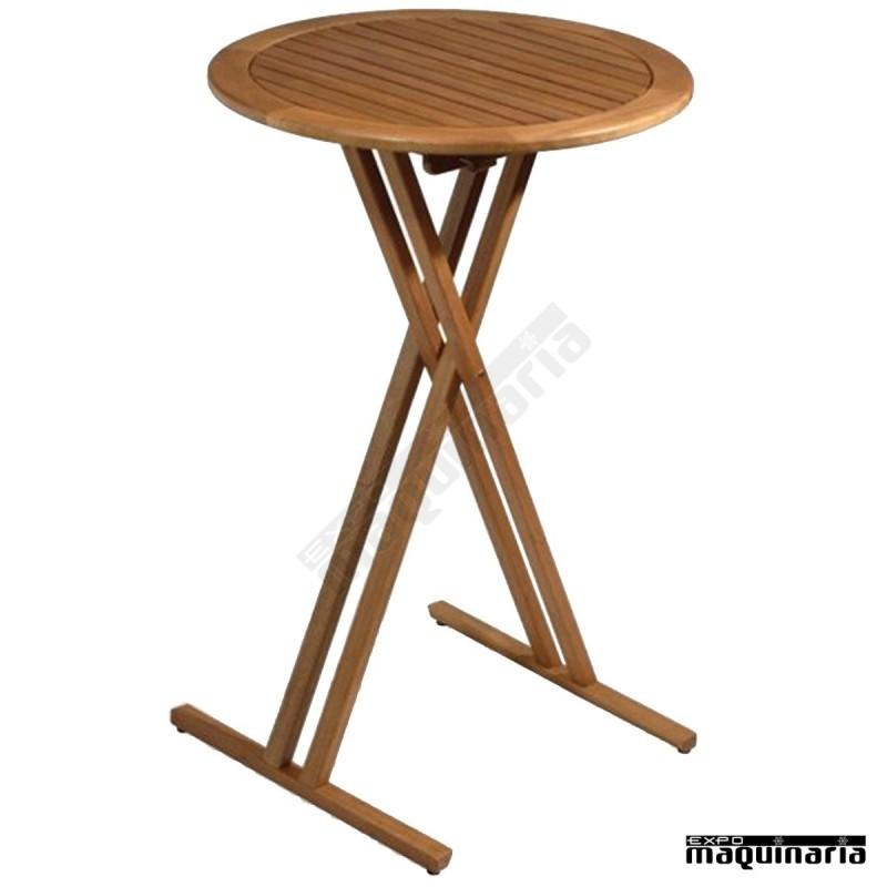Mesa alta madera fabenidorm h no plegable for Mesas altas de bar de madera