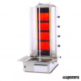 Asador de carne a gas vitrocerámico MAA4G-VITRO
