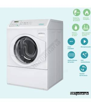 Lavadora semi-industrial alto centrifugado PRLC10PB blanca