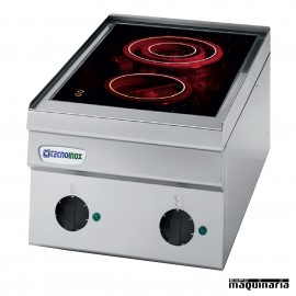 Cocina industrial electrica CLPCC35E60 con 2 quemadores vitrocerámicos