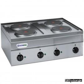 Cocina industrial electrica CLPC70E60 con 4 placas