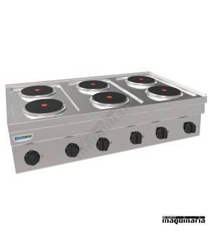 Cocina industrial electrica CLPC105E60 con 6 placas de cocción