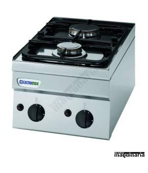 Cocina industrial a gas CLPC35G6 con dos quemadores