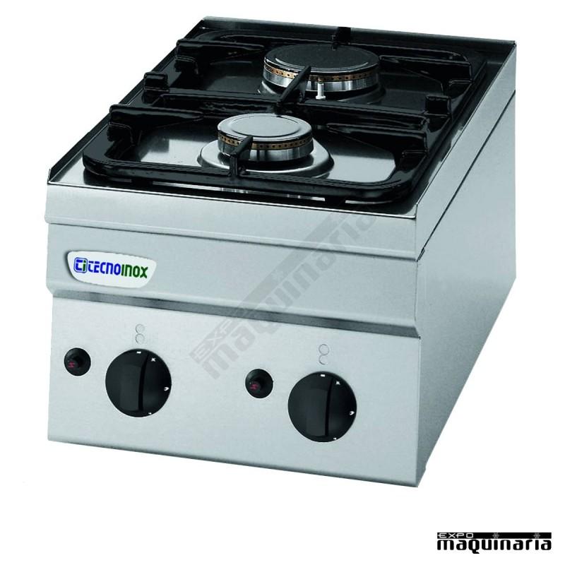 Cocina industrial a gas clpc35g6 con dos quemadores for Cocina 6 quemadores