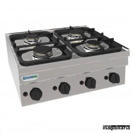 Cocina industrial a gas CLPC70G6 con cuatro quemadores